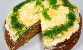 Печеночный торт простые рецепты вкусного торта из говяжьей, свиной и куриной печени
