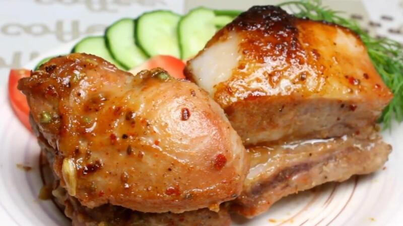 Сочные свиные ребрышки в духовке в медово-соевом соусе (пошаговый фото-рецепт)