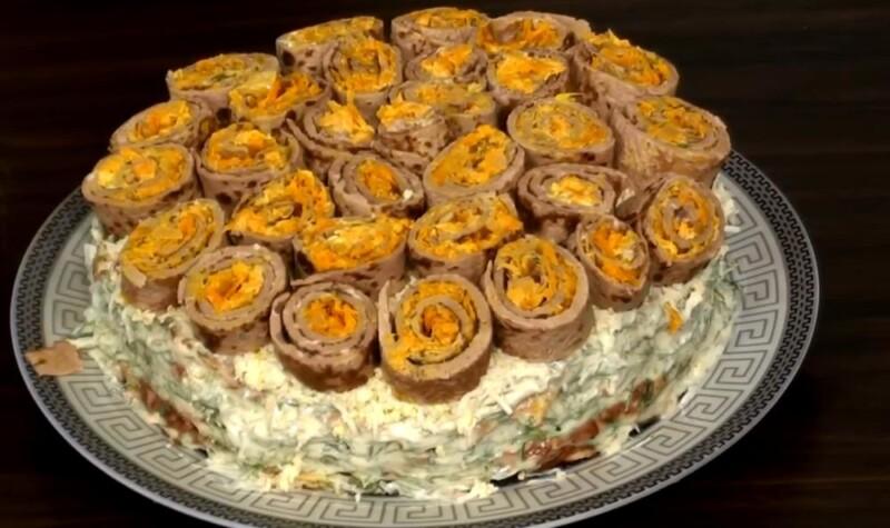 Торт из печени с картофелем — очень вкусный рецепт картофельно-печеночного торта