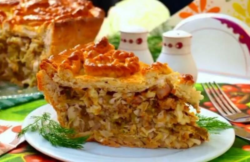 Дрожжевой пирог с капустой на кефире — самый вкусный рецепт заливного пирога