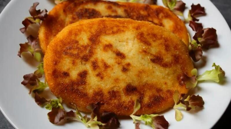 Постные картофельные зразы с капустой — очень вкусный рецепт