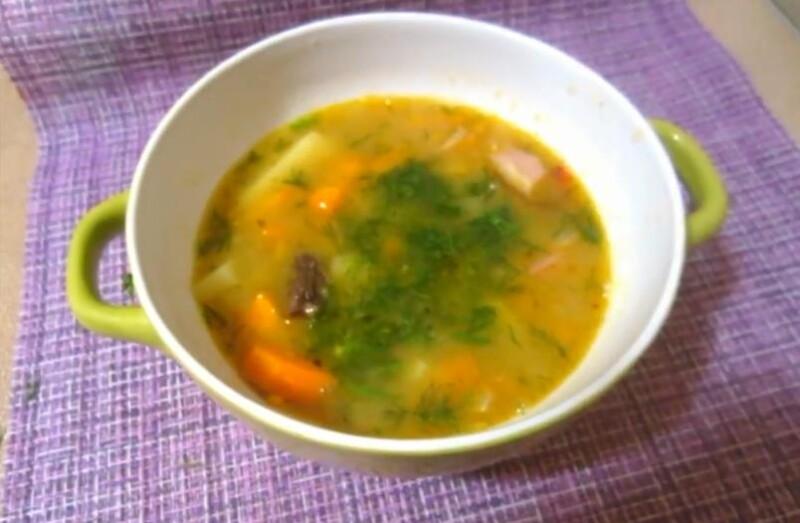 Гороховый суп с говядиной по простому и вкусному рецепту