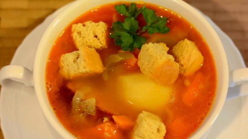 Гороховый суп в мультиварке с копченостями — пошаговый рецепт приготовления