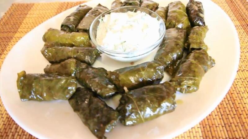 Рецепт долмы из виноградных листьев по-грузински