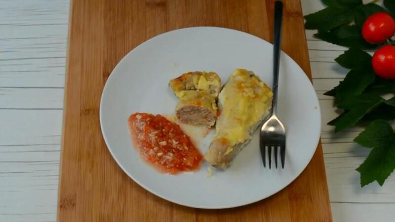 Фаршированные куриные ножки в духовке с грибами и сыром