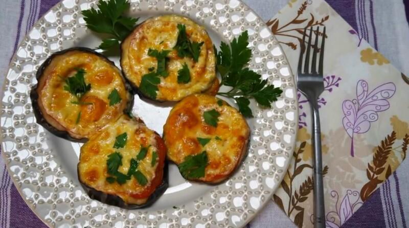 Как приготовить баклажаны в духовке с помидорами и сыром быстро и вкусно
