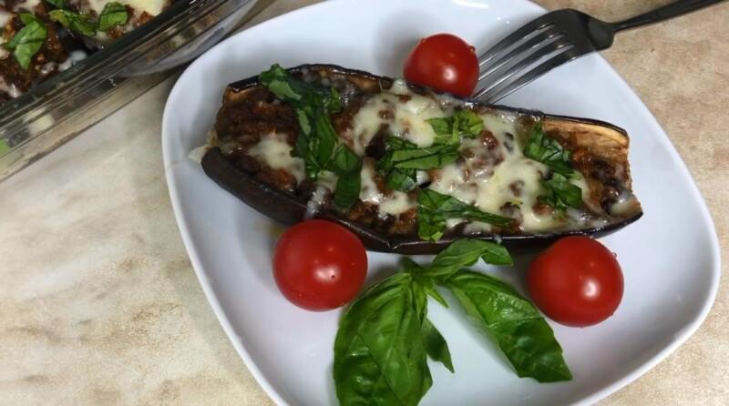 Как запечь баклажаны фаршированные мясом в духовке — быстрый и вкусный рецепт