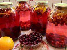 Компот из вишни на зиму — 12 простых рецептов вишневого компота на 3 литровые банки