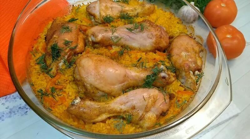 Куриные голени с рисом в духовке — самый вкусный рецепт запекания куриных ножек