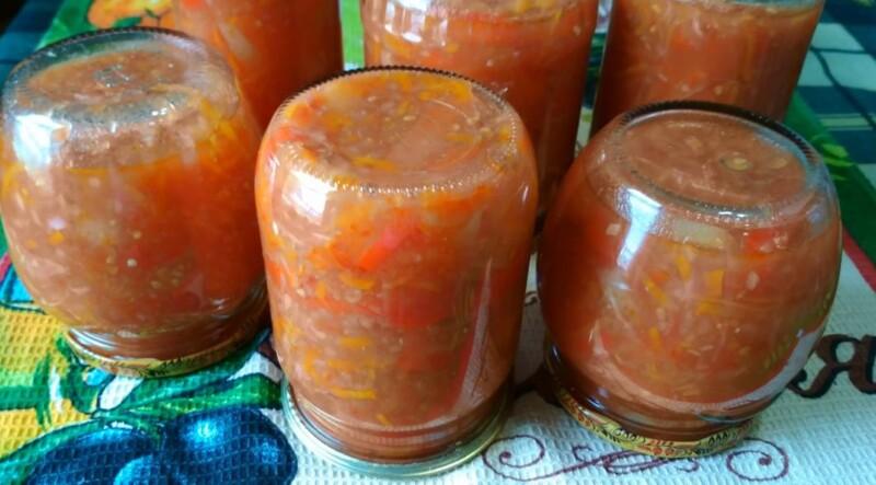 Лечо «Глобус» из болгарского перца в томатном соке — настоящий рецепт как в советские времена