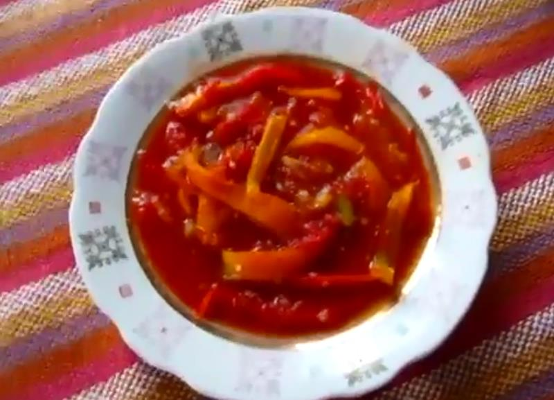 Очень вкусное лечо из перца и помидоров кусочками на зиму