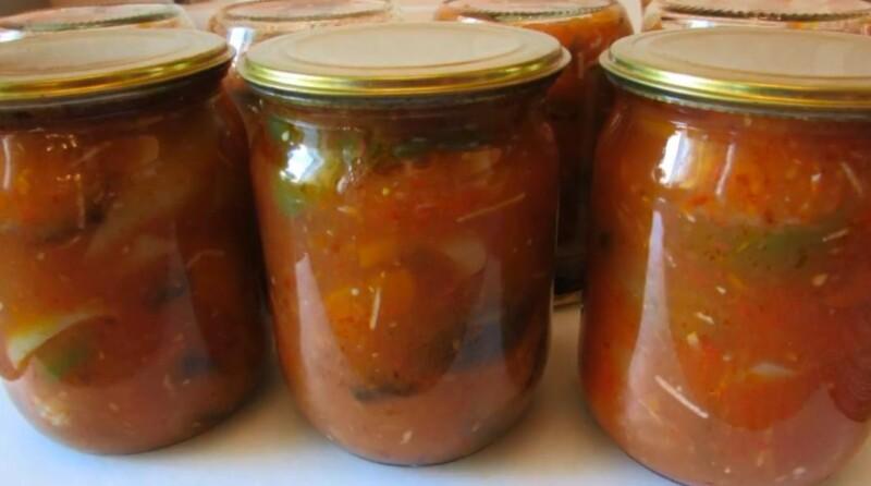 Пошаговый рецепт лечо из болгарского перца, помидоров и баклажанов на зиму