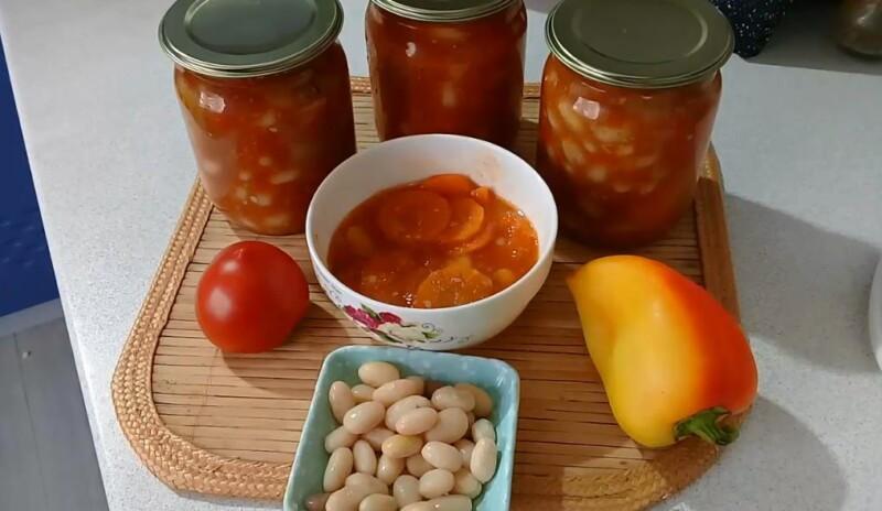 Рецепт лечо из болгарского перца и помидоров с фасолью на зиму