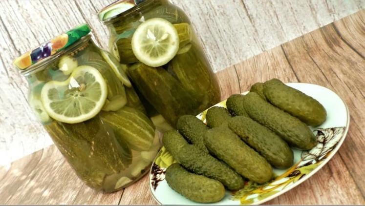 Самые вкусные огурцы с лимоном на зиму в литровых банках