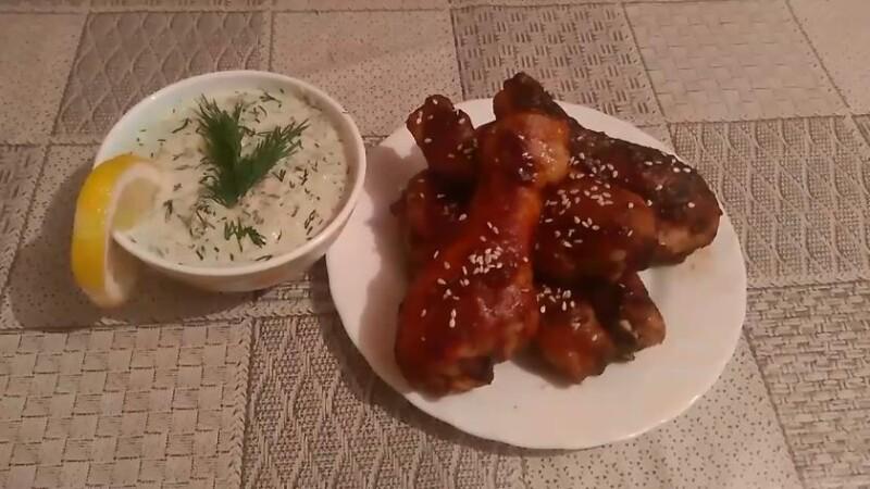 Вкусный маринад для куриной голени в духовке с соевым соусом и медом