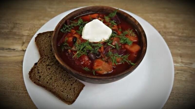 Борщ украинский с фасолью — классический рецепт приготовления