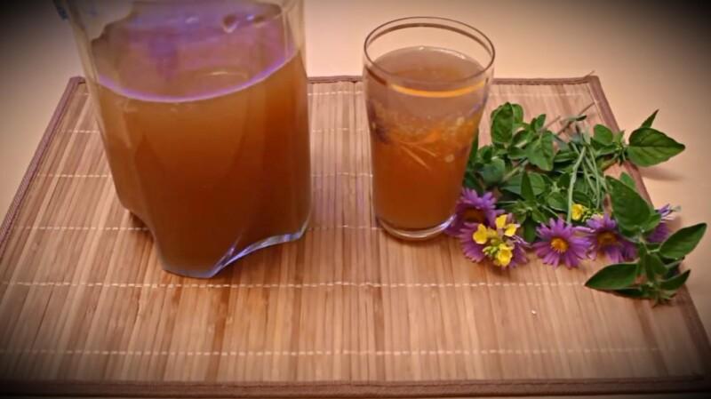 Домашний квас из цикория с мятой на 5 литров.