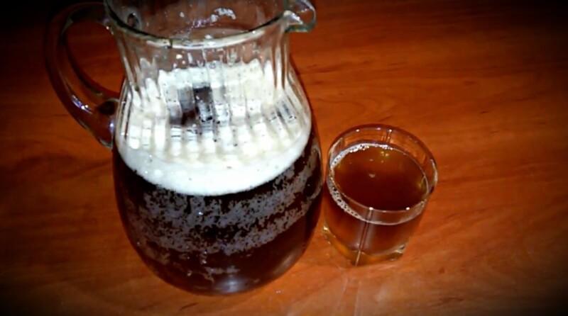 Домашний квас с цикорием и сухими дрожжами — рецепт на 5 литров