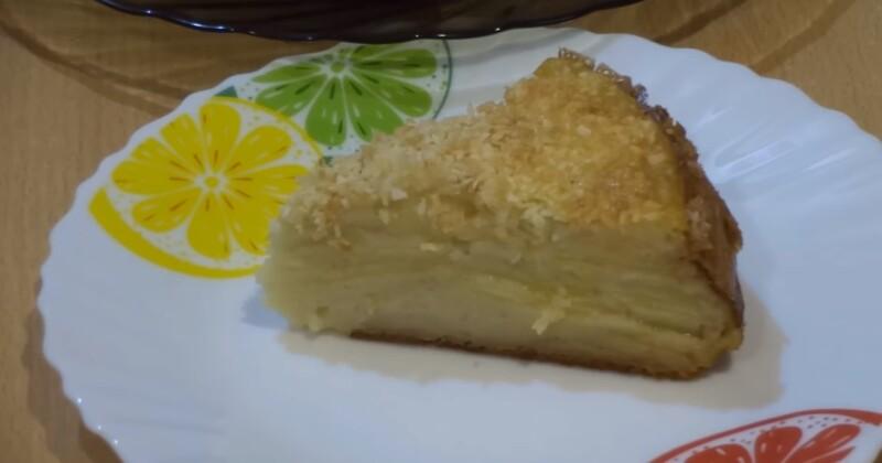 Яблочный пирог «Невидимый» тает во рту, много яблок и мало теста