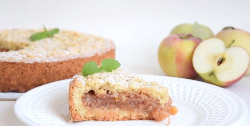 Яблочный пирог из песочного теста — рецепт песочного пирога с яблоками на скорую руку