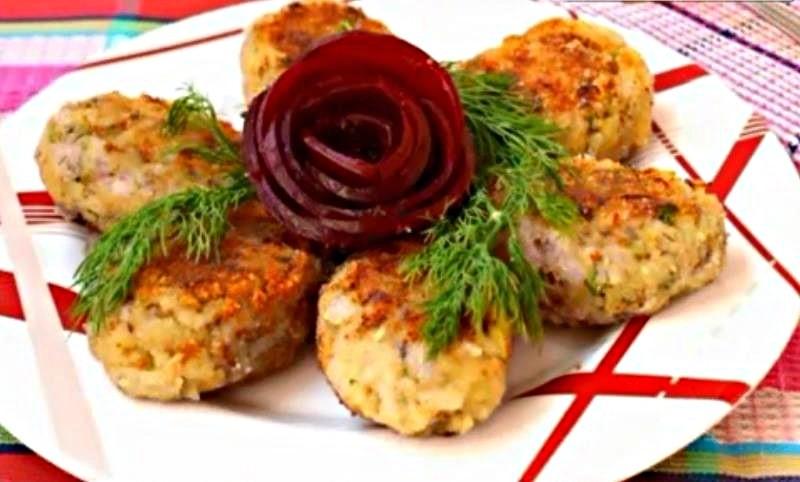 Котлеты из рыбной консервы сардины с рисом — сочные и вкусные