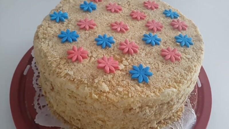 Очень вкусный торт Наполеон с кремом «Пломбир» (пошаговый рецепт)