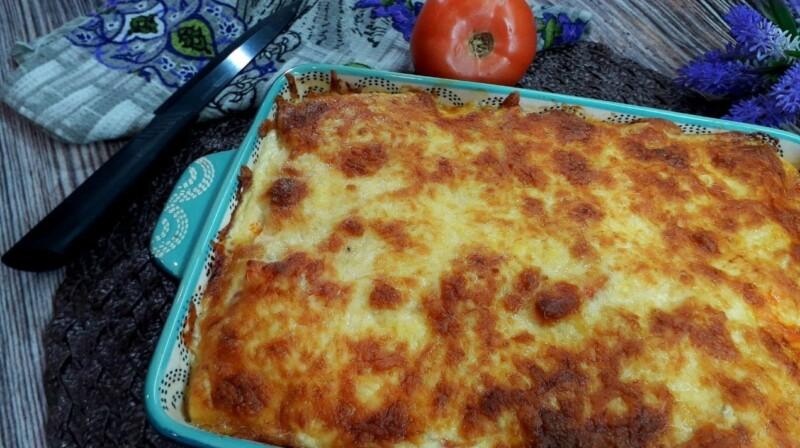 Запеканка из кабачков с фаршем в духовке — рецепт с фото