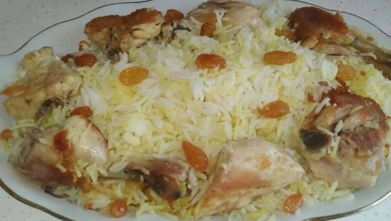 Азербайджанский плов с курицей по классическому рецепту