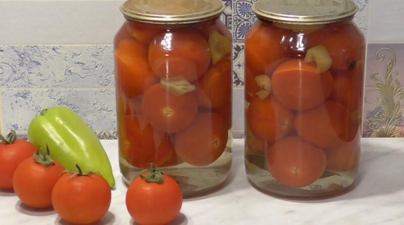 Сладкие маринованные помидоры на зиму без стерилизации с лимонной кислотой
