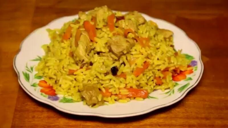 Узбекский плов из курицы в казане на костре — рецепт с пошаговым описанием