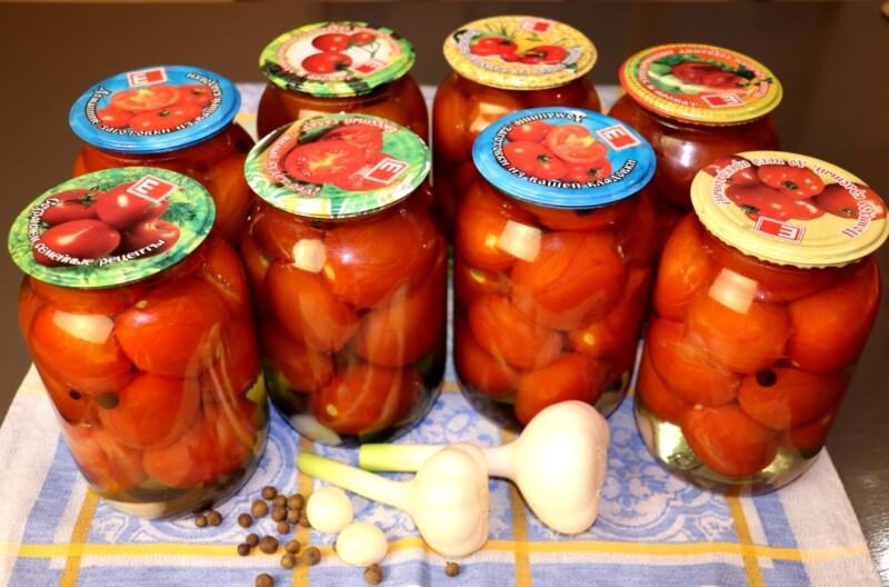 Вкусные маринованные помидоры на зиму в банках на 1 литр