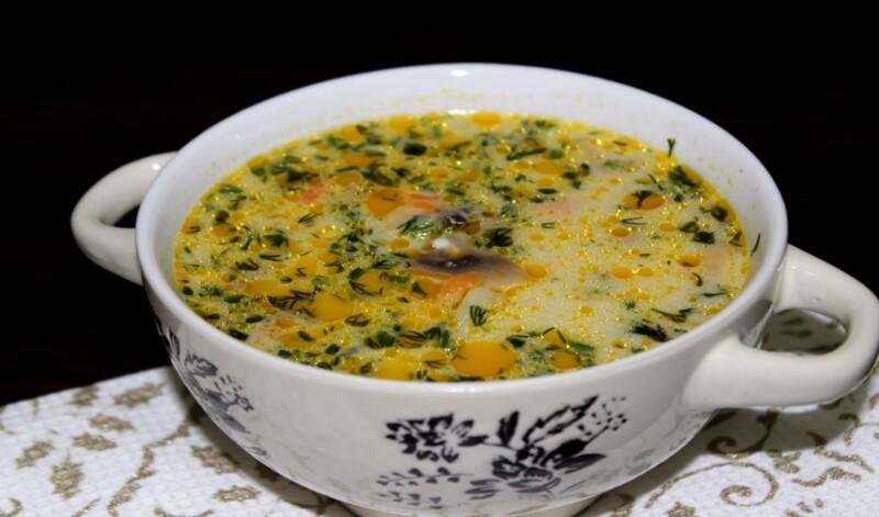 Домашний рецепт грибного супа из рыжиков со сметаной и сливками