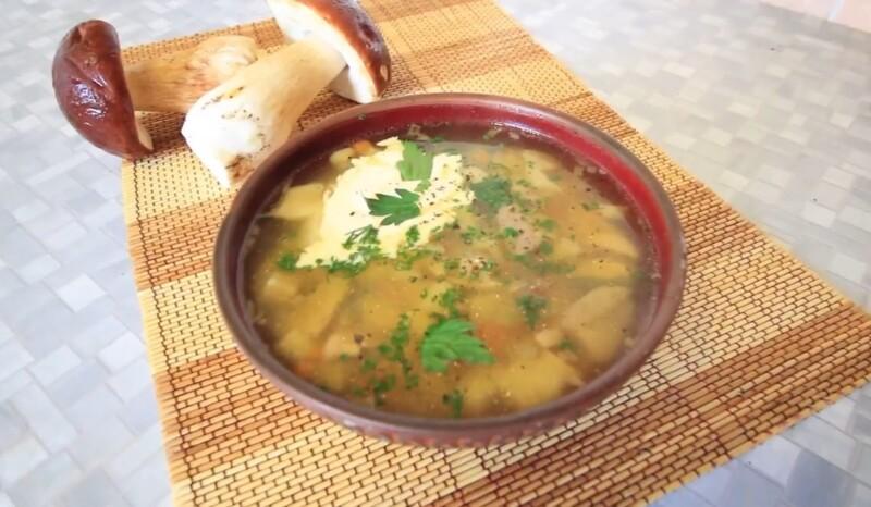 Грибной суп из белых грибов — классический рецепт