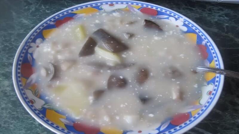 Грибной суп из свежих подберезовиков и подосиновиков