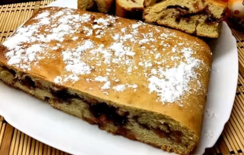 Пирог с вареньем на скорую руку — готовим быстро и просто в духовке