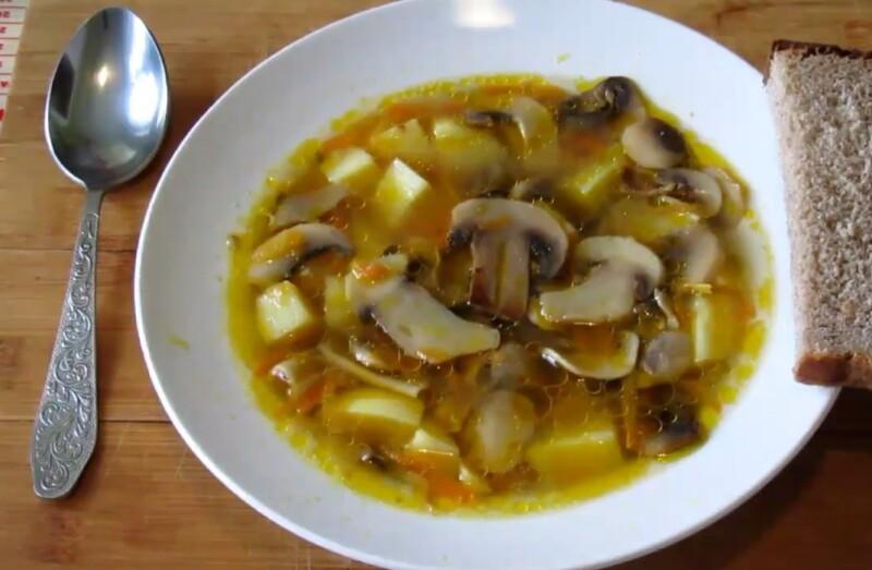 Самый вкусный грибной суп из свежих грибов с картошкой