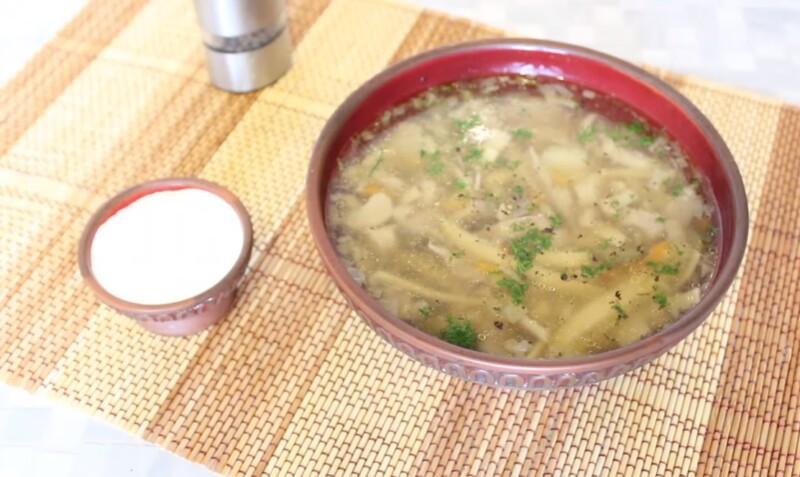 Суп с грибами вешенками и вермишелью — самый вкусный рецепт