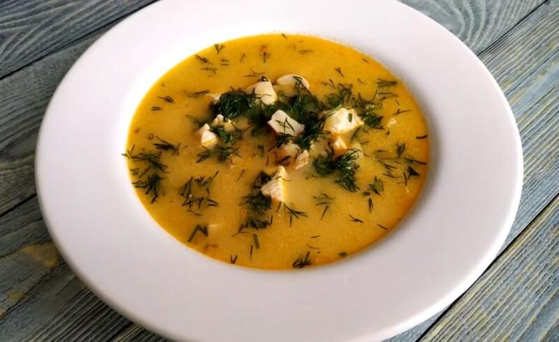 Сырный суп с курицей и грибами — рецепт с плавленым сыром