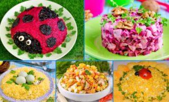 Бесподобно вкусные салаты на Новый год 2021 — сметут со стола первыми