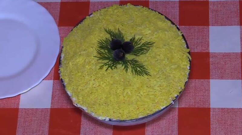 Очень вкусный салат Мимоза с печенью трески — рецепт без картофеля