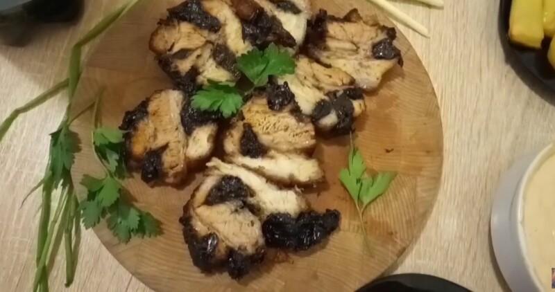 Самый вкусный рецепт сала в луковой шелухе с черносливом