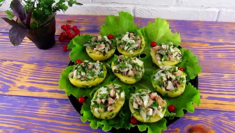 Рыбная закуска с селедкой и картошкой на праздничный стол