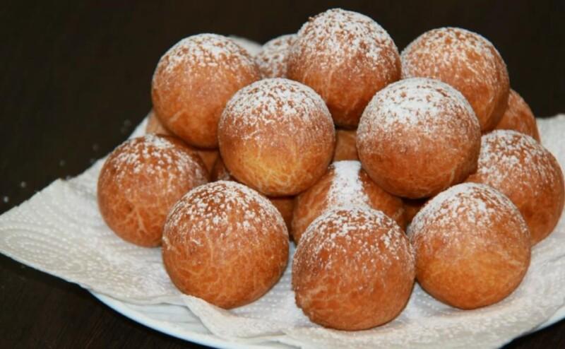 выложить готовые пончики