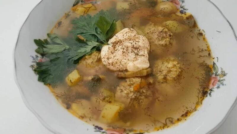 Самый вкусный суп с фрикадельками и грибами шампиньонами