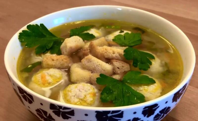 Суп с фрикадельками и вермишелью — самый вкусный рецепт
