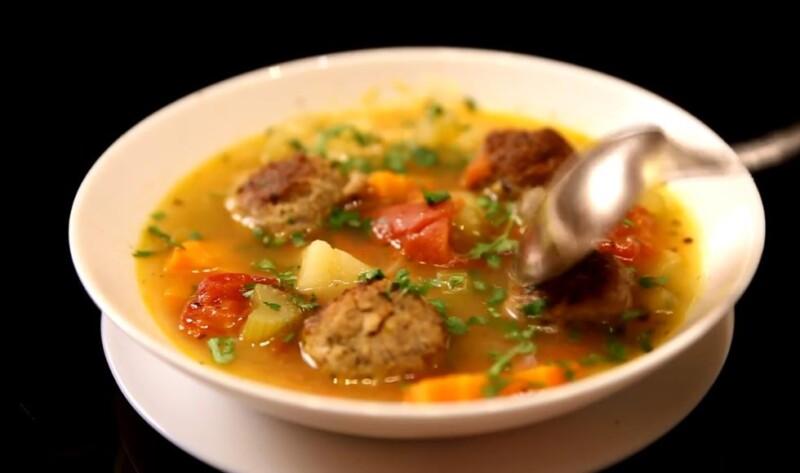 Вкусный суп с фрикадельками из говяжьего фарша — классический рецепт