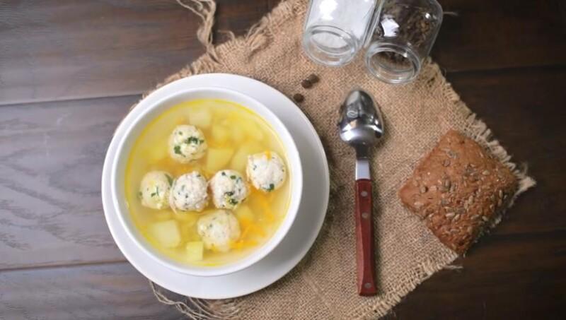 готовый суп с фрикадельками