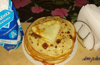 Классические блины на молоке — пошаговый рецепт на 0,5 или 1 литр молока