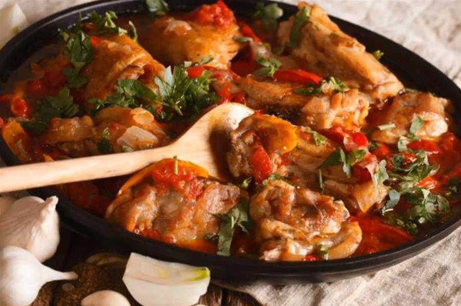 Чахохбили из курицы по-грузински в духовке пошаговый рецепт