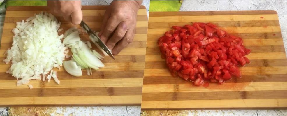 нарезаем овощи ломтиками